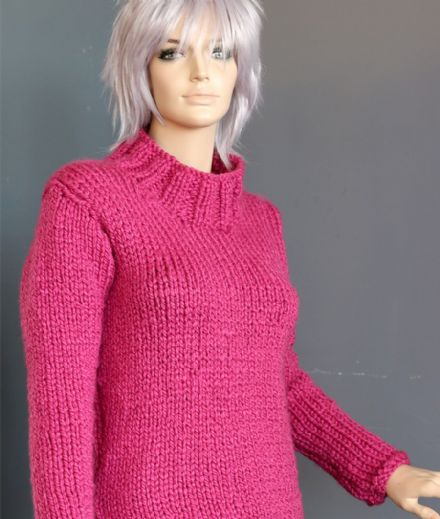 Hot Pink Chunky Jumper